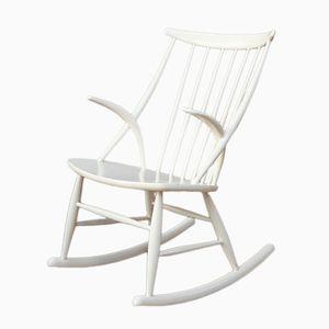 Rocking Chair par Illum Wikkelso pour N. Eilersen, 1950s