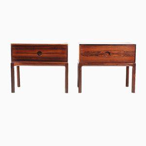 Tables de Chevet en Palissandre par Kai Kristiansen pour Aksel Kjersgaard, Danemark,1960s, Set de 2