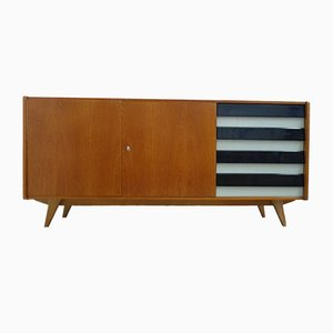 Large Model U460 Black & Grey Sideboard by Jiri Jiroutek for Interier Praha, 1967