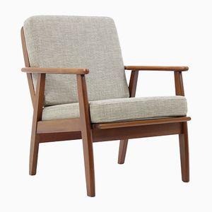 Dänischer Teak Sessel in Grau, 1960er