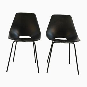 Tonneau Dining Chairs by Pierre Guariche for Steiner, 1954, Set of 2
