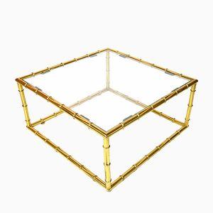 Table Basse Imitation Bambou de Maison Baguès, 1960s