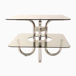 Italian Double Glass Top Coffee Table, 1970s