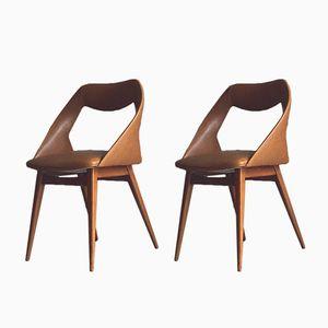 Italienische Vintage Stühle von Louis Paolozzi, 2er Set