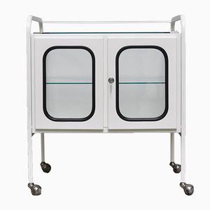 Vintage Hungarian Medical Trolley in Iron & Glass, 1970s