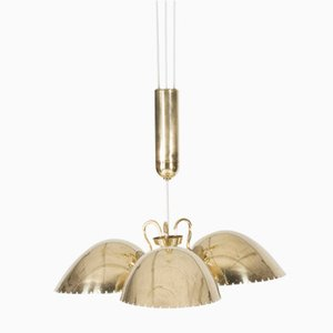 Brass Ceiling Lamp by Carl-Axel Acking for Bröderna Malmströms Metallvarufabrik, 1940s