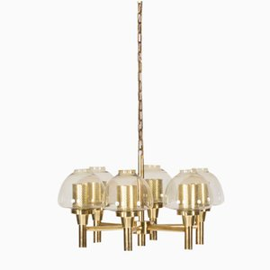 Brass Chandelier from Hans-Agne Jakobsson, 1960s