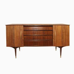 Walnuss & Messing Sideboard, 1950er