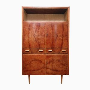East German Mid-Century Cupboard on Tapered Feet