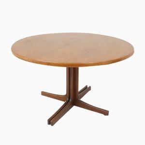 Runder Ausziehbarer Tisch aus Teak, 1960er