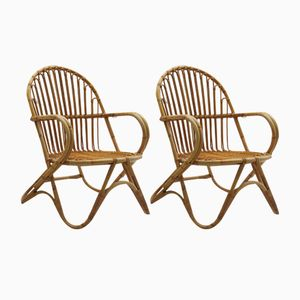Zuckerrohr Stühle von Angraves, 1970er, 2er Set