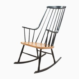 Mid-Century Grandessa Beech Rocking Chair by Lena Larsson for Nesto