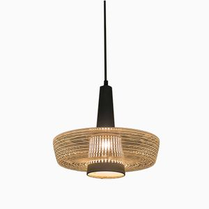 Vintage Glass Pendant Light from Wila