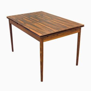 Vintage Extending Brown Rosewood Dining Table