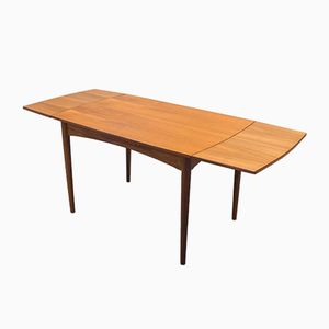 Vintage Extendable Solid and Veneered Teak Dining Table
