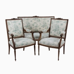 Antique French Toile Salon Suite