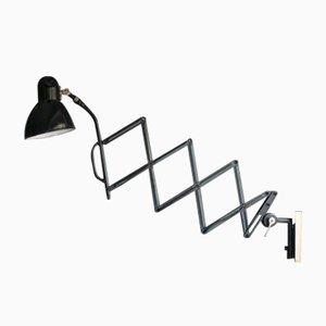 Bauhaus Scherenlampe mit Emaille Leuchte
