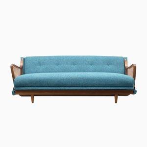 Sofa in Petrolblau, 1950er