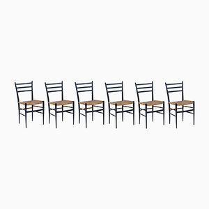 Ebonisierte Mid-Century Stühle, 6er Set