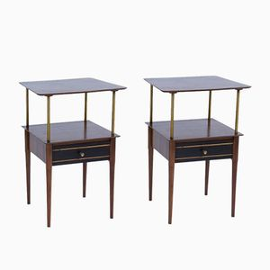Tables d'Appoint Vintage en Teck, 1950s, Set de 2