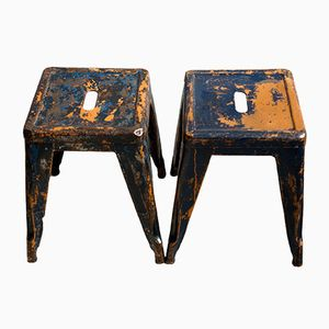 Industrial Stools by Xavier Pauchard for Tolix, 1930s, Set of 2