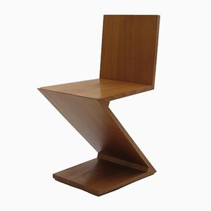 Zig Zag Chair by Gerrard Rietveld for Cassina, 1970s