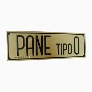 Industrial Vintage Italian Pane Tipo 0 Sign, 1960s