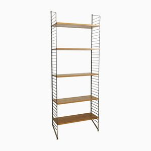 Standing Ladder Elm Wall Unit by Nisse Strinning for String, 1960s