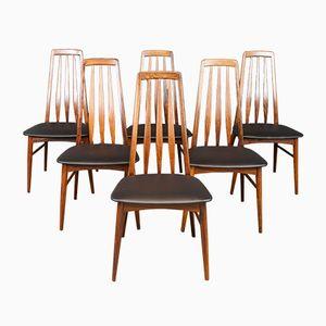 Chaises de Salle à Manger Eva en Palissandre par Niels Koefoed pour Hornslet Møbelfabrik, 1960s, Set de 6