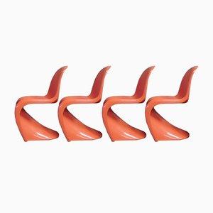 Panton S Stühle von Verner Panton für Herman Miller, 1970er, 4er Set