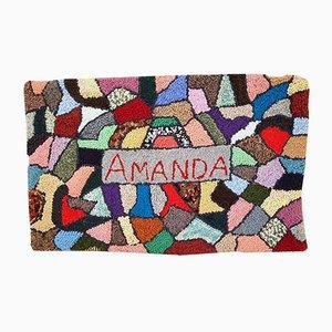 Vintage American Handmade Hooked Rug, 1980s