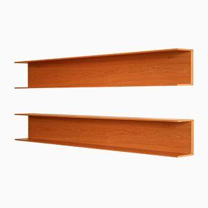 Oak Shelves by Walter Wirz for Wilhelm Renz, 1966, Set of 2