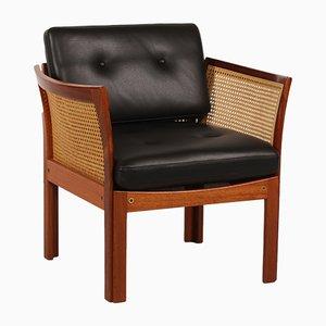 Dänischer Plexus Sessel aus Mahagoni von Illum Wikkelsø für C. F. Christensen, 1960er