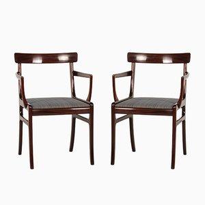 Dänische Vintage Rungstedlund Mahagoni Armlehnstühle von Ole Wanscher für Poul Jeppesen