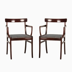 Vintage Danish Rungstedlund Mahogany Armchairs by Ole Wanscher for Poul Jeppesen