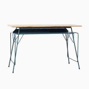 Blauer Vintage Schreibtisch von Willy Van Der Meeren für Tubax