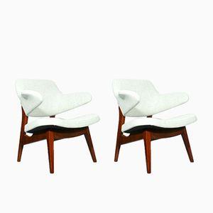 Lehnstühle von Louis van Teeffelen für Wébé, 1960er, 2er Set