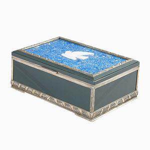 Antike Russische Box aus Silber & Lapislazuli