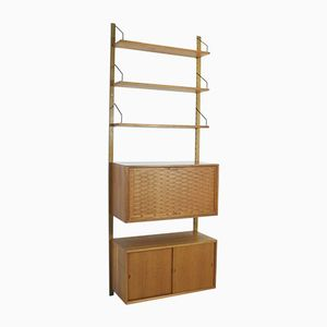 Vintage Danish Modular Teak Wall Unit by Paul Cadovious for Cado