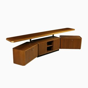 Italian MG 14 Cabinet with Side Elements by Osvaldo Borsani for Tecno, 1960s