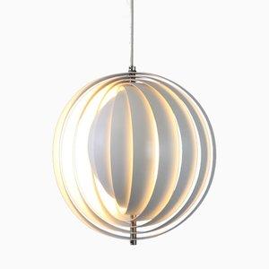 Lampe à Suspension Moon en Métal Blanc par Verner Panton pour Louis Poulsen, 1960s
