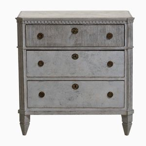 Antique Carved Chest of Drawers with Lock and Key