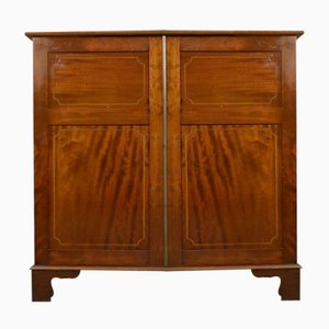 Antique Edwardian Inlaid Mahogany Cupboard