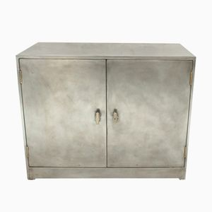 Vintage Industrial Brushed Metal Cupboard