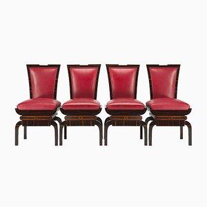 Art Deco Beistellstühle, 4er Set