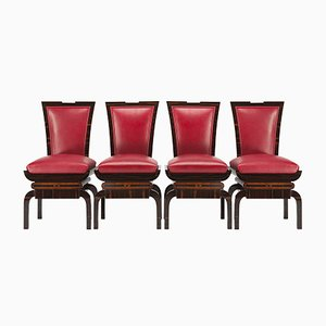 Art Deco Side Chairs, Set of 4