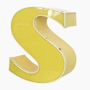Leuchtbuchstabe S in Gelb