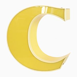 Vintage Illuminating Letter C in Yellow
