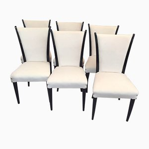 Italian Art Deco Chairs, 1930s, Set of 6