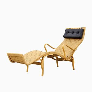 Swedish Pernilla Lounge Chair by Bruno Mathsson for Illums Bolighus, 1960s